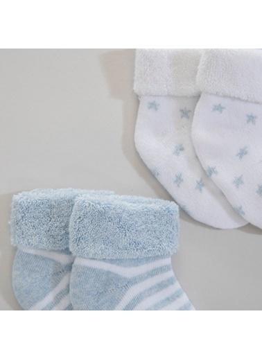 Chakra Ponti Havlu 2'Li Erkek Çorap Mavi